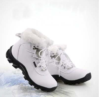 2014 Brand Genuine Leather Women Winter Warm Shoes Cotton-padded Snow Boots
