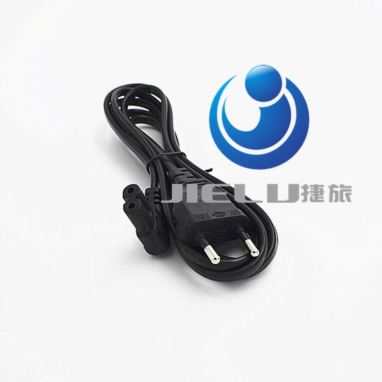 3.2ft Europe European EU plug power supply Cable 90 degree Angle EU Plug 2 Prong to Figure 8 AC Power Cable Adapter Lead Cord(China (Mainland))