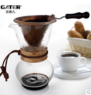 Кофейник высокое качество фланель рука фолликулярной тип кофеварка сгустите стеклянные стали капельный фильтр горшок 3 - 4 порции ( BD-4 )