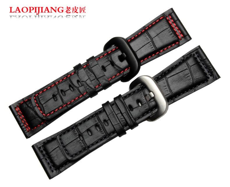 Laopijiang Кожаный ремешок мужчины часы модные аксессуары Подходят P1P2P3M1M2 28 мм