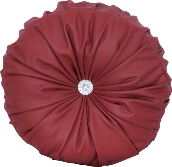 How To Make A Round Throw Pillow Cover : round cushion cover circle red pumpkin pillowcase decorative pu leather pillow covers throw ...