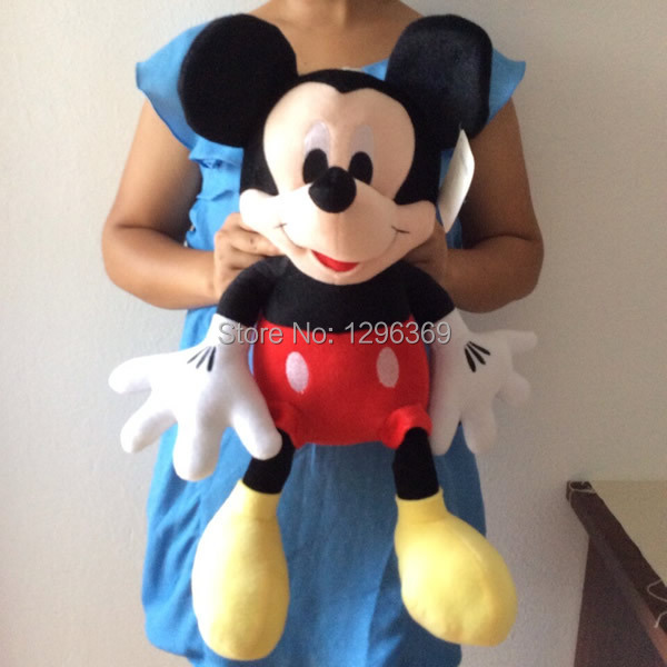 "Free Shipping 1pcs 55cm Mickey Mouse Stuffed Animal Plush Toys 21.6"" Mickey Mouse Plush Toys For Kids&Girl gift(China (Mainland))"