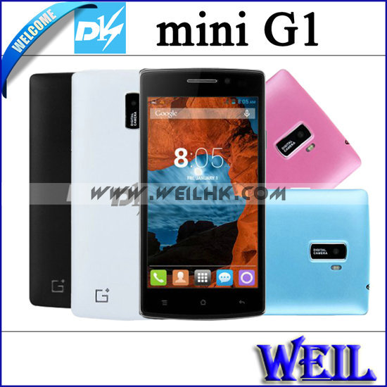 DK MINI G1 Mobile Phones Android 4.2 MTK6572 Dual Core 2GB ROM 5.0MP Camera 3G 4.5inch Screen Phones(China (Mainland))