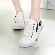Весна / осень корейский женщины брезент обувь женское низкая кружево сексуальный губы спорт кроссовки студент свободного покроя молния лежа обувь