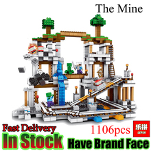 Buy lepin Minecraft 1106Pcs Mine world Figure Kids Educational Building Blocks Bricks Toys Children Gift for $42.00 in AliExpress store