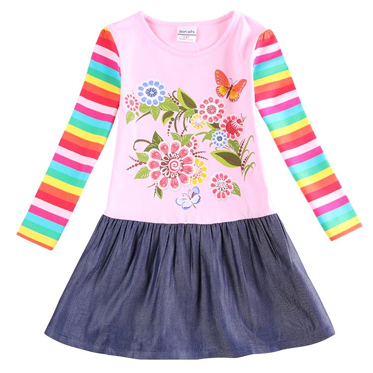 Princess Girl Dress nova kids wear fashion dresses Baby Children Clothing flower dress Girls Costume hot design