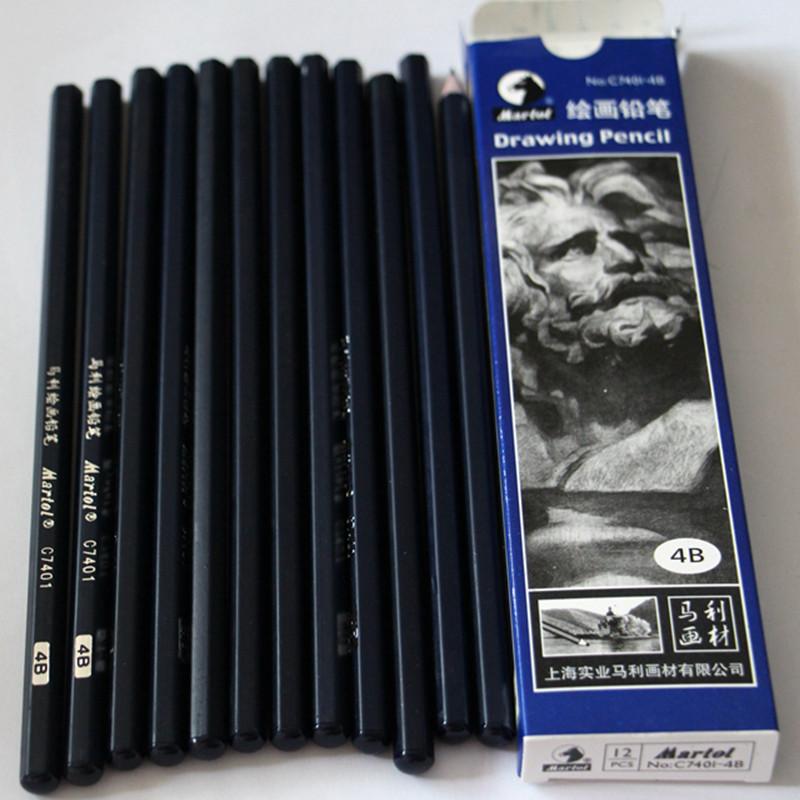 12pcs-Tattoo-Transfer-Stencil-Drawing-Pencil-4B-For-Tattoo-Transfer-Paper-Supply