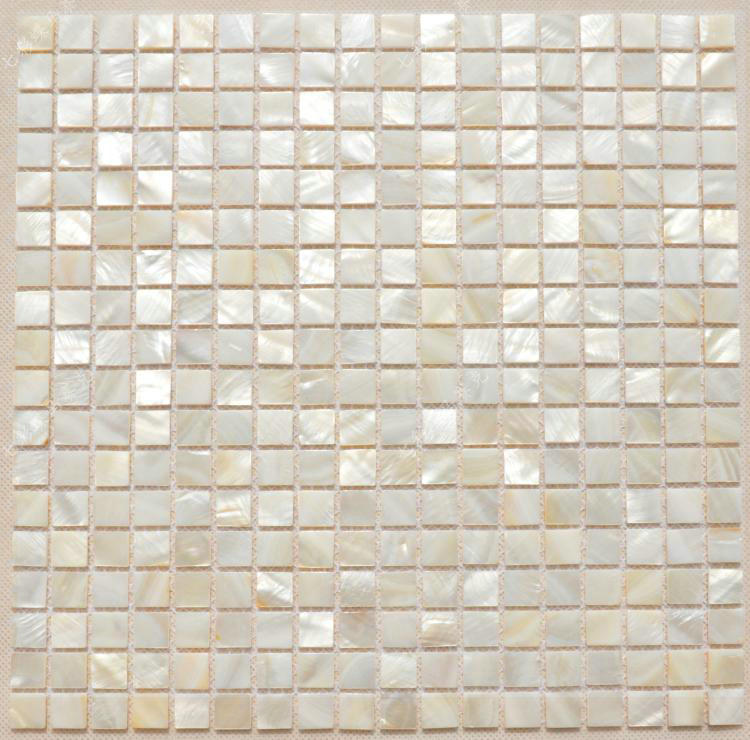 Square Sea Shell Mosaic Mother of Pearl Kitchen Floor Tiles Waterproof Bathroom Wall ...
