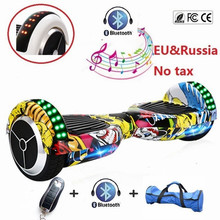 Buy Tax bluetooth hoverboard two wheel electric scooter self balancing scooter electric skateboard hover board LED light Remote for $82.99 in AliExpress store