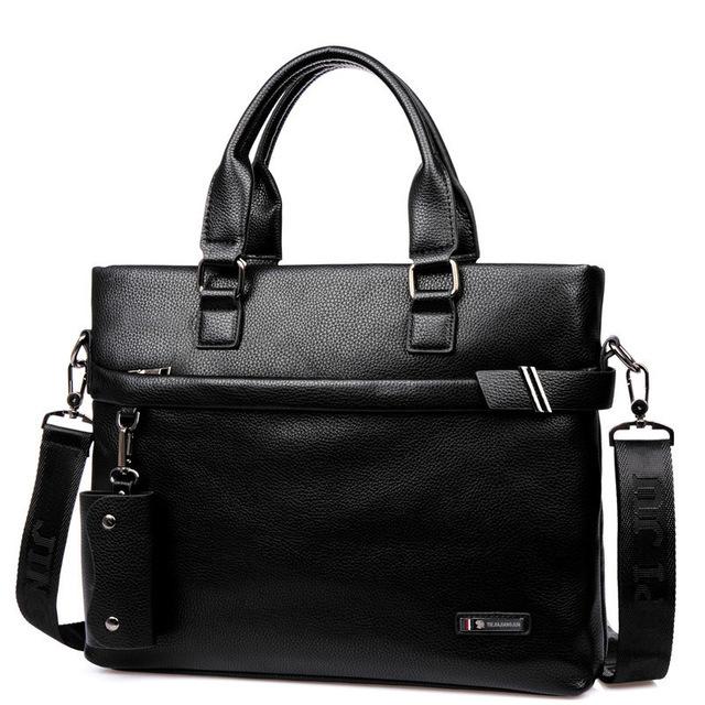 Men Briefcase Business Shoulder Leather Bag Computer Laptop Handbag Bag Men's brand Men Shoulder Bag Messenger Bag freeshipping(China (Mainland))