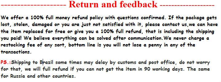 Return and feedback