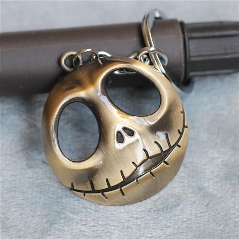 Hot European Movie Keychain The Nightmare Before Christmas Keychains Jack Metall Gothic Punk Skull Keychain(China (Mainland))