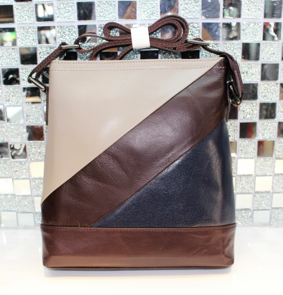 Genuine leather bag messenger bag crystal cowhide first layer of cowhide man bag shoulder bag n380
