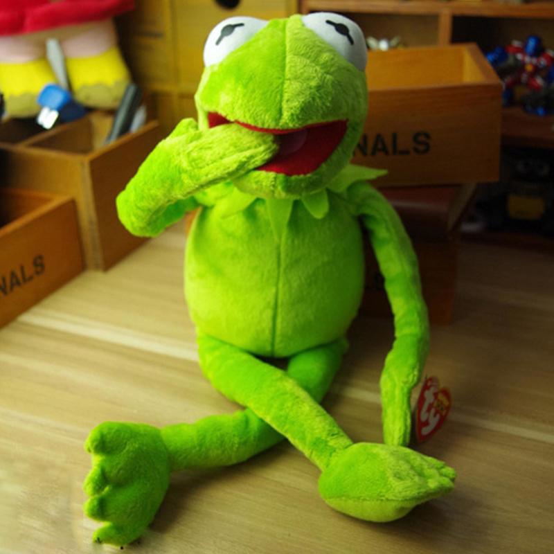NEW 40cm Kermit plush toys Sesame Street doll animal Kermit Stuffed Toy plush frog doll baby toy Children birthday Gift(China (Mainland))