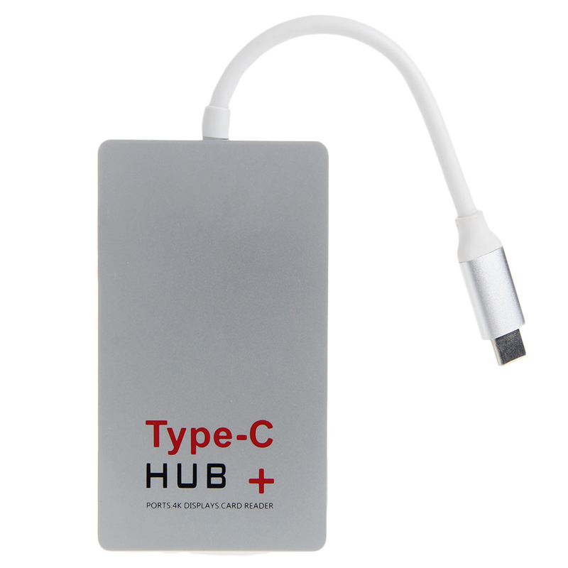 USB 3.1 Type-C to 4K HDMI USB 3.0 HUB & USB-C Charge SD Card Reader Adapter
