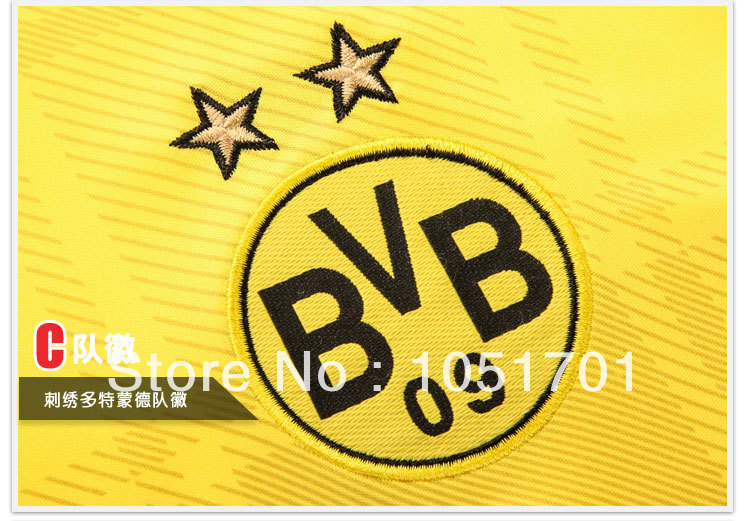 13/14 A+++ quality Borussia Dortmund home football jersey high quality soccer jersey free shipping(China (Mainland))