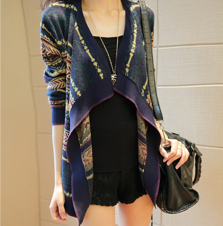 2015 Women's new sweater cardigan summer European style loose women's knit cardigan womens jumpers jacket W98(China (Mainland))