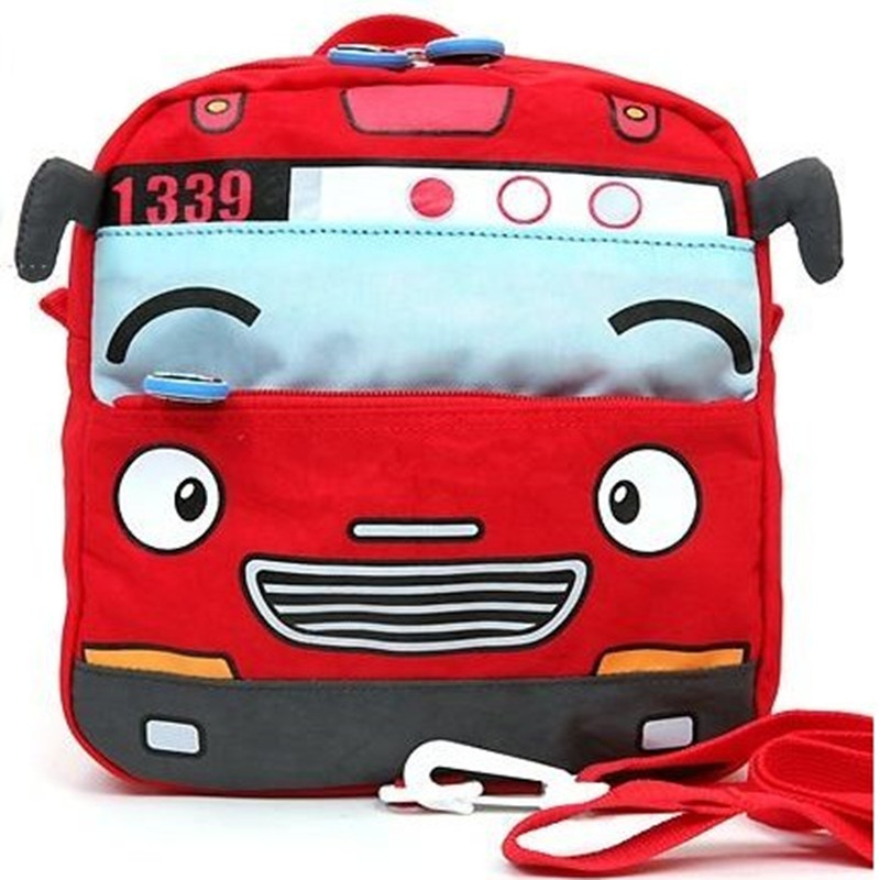 Tayo small bus car school bag anti-lost bag child backpack