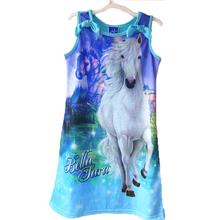2016 New baby girls my Fashion princess flower dress summer casual for little kids children ponies roupas infantil meninas