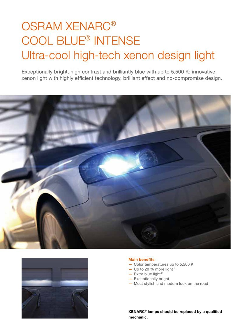 1x new osram d2s 35w 66240cbi cool blue intense xenarc hid bulb 5500k headlight ebay. Black Bedroom Furniture Sets. Home Design Ideas