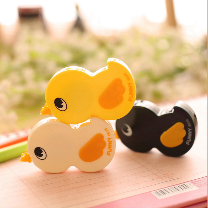 New Arrival aihao Brand 3pcs/lot Big Cute Duck Design Correction Tape, High Quality School Tape for Kid, Free Shipping<br><br>Aliexpress