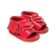 Wholesales PU Leather Fringe Newborn Baby Girl Boy Crib First Walkers Soft Soled Summer Baby Moccasins Moccs Shoes(China (Mainland))