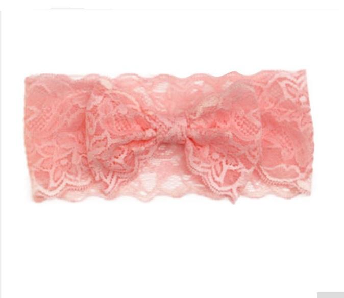 7Pcs Hot Sell Baby Fashion Flower Headbands Elastic Crochet Lace Headband Acrylic Hair Bands For Women Hair Accessories(China (Mainland))