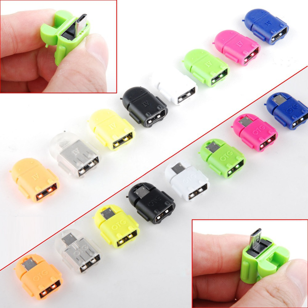 Android Robot Shaped Micro USB to USB OTG Adapter Cable for Smart Phone Galaxy S3 S4 Note2 A-291(China (Mainland))