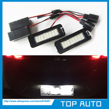 Super Bright 2X24SMD LED License Plate Light For VW Golf 6 VI 5 V GTI Seat Leon Altea(China (Mainland))