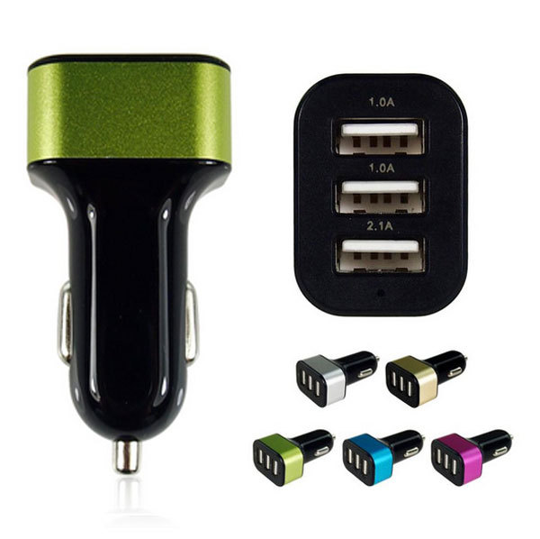 3 Way Car Cigarette Lighter Socket Splitter Charger Power Adapter DC+USB 12V-24V for all mobiphone smartphone(China (Mainland))