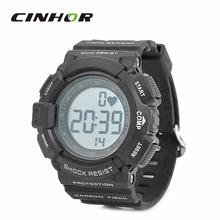 Digital multifuncional deportivo reloj pulsómetro inalámbrico Monitor del golpe de corazón contador reloj de pulsera con cinturón de pecho elástica – negro