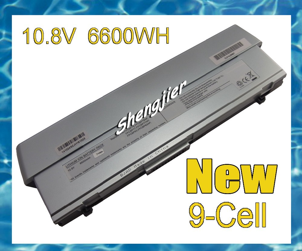 Battery For Fujitsu Stylistic ST5000/D ST5021D ST5111 ST5112 ST5032D FPCBP98 9Cell 9Cells 6600MAH(China (Mainland))