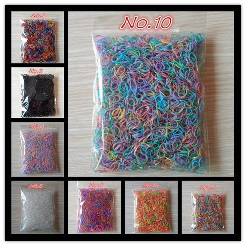About 1000pcs/bag (small package) 2015 New Child Baby TPU Hair Holders Rubber Bands Elastics Girl's Tie Gum(China (Mainland))