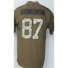 wholesale Men's 11 Julian 12 Tom 87 Rob Brady Adult Edelman Rob Gronkowski Army green general Fast Free Shipping(China (Mainland))