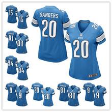 2016 Women Detroit Lions, 81# Johnson,20 Barry Sanders, 9 Matthew Stafford, 94# Ezekiel Ansah(China (Mainland))