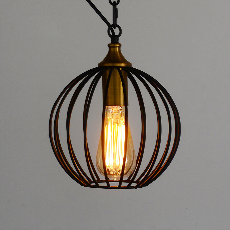 Nordic American country French garden lighting retro minimalist living room stairs wrought iron chandelier restaurant New lamp<br><br>Aliexpress