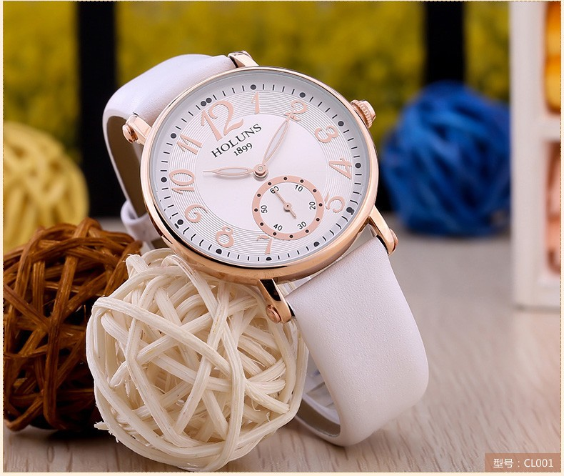 2016 Fashion trend holuns big dial Waterproof quartz Casual women watch Sapphire Stainless Steel special love gift for girl lady
