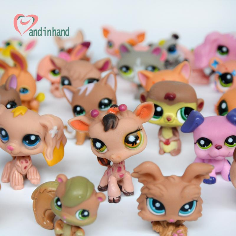 Anime Action Figures Littlest Toy 10PCS/Lot Different Pet Cat Dog Small Animals Toys&Hobbies Shop For Children Girl Present Gift(China (Mainland))