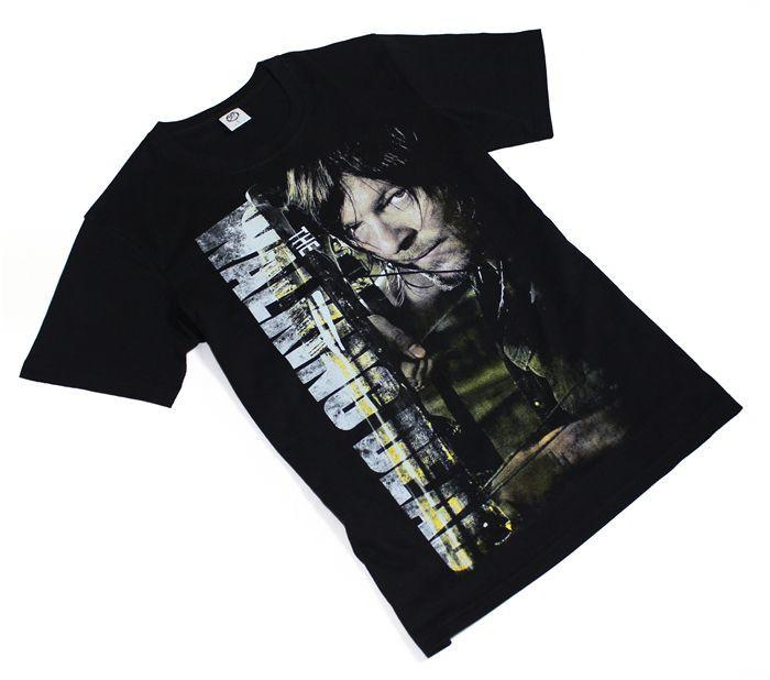 The fifth season The Walking Dead T-shirt DARYL Cosplay Costume Printing T Shirt Casual Men Cotton Tshirt Tees  HTB1uG0UHFXXXXXGXXXXq6xXFXXX5