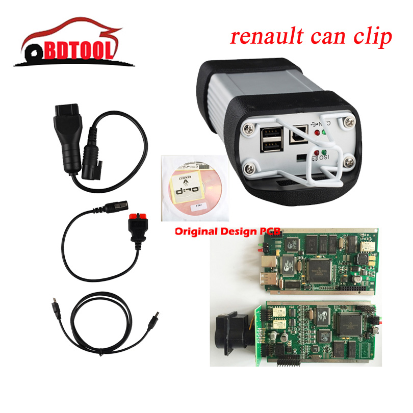 2015 Newest V157 OBD2 Auto Diagnostic Interface Renault Can Clip With Full Clip Support Multi-Language Diagnostic tools DHL Ship(China (Mainland))