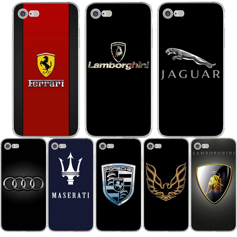 Phone Cases for Porsche Lamborghini Audi Maserati Car Logos for iphone 6 6s 7 5 5s se 6splus 7plus Soft TPU Ultra Slim Silicone(China (Mainland))