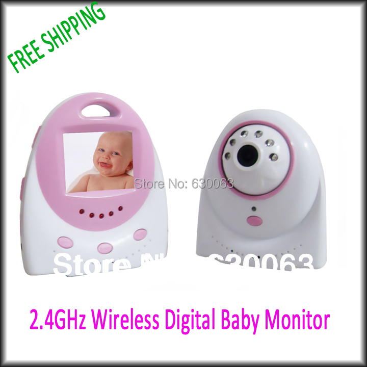 free shipping wireless baby monitor 2 4ghz digital video baby monitor lcd baby monitor. Black Bedroom Furniture Sets. Home Design Ideas