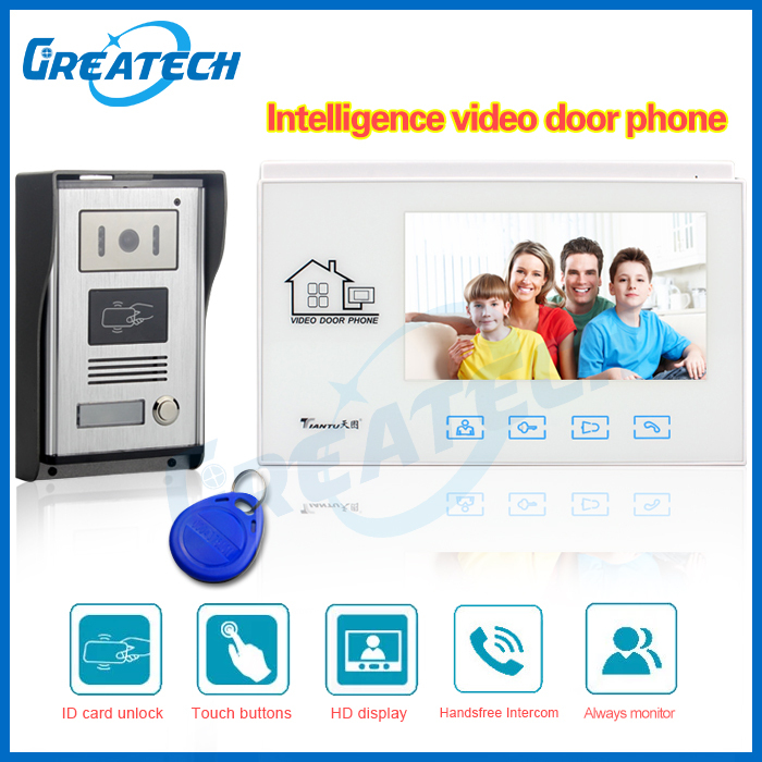 home security 7 TFT LCD video door phone intercom door camera peephole video call and doorbell interfone teclado videoportero<br><br>Aliexpress