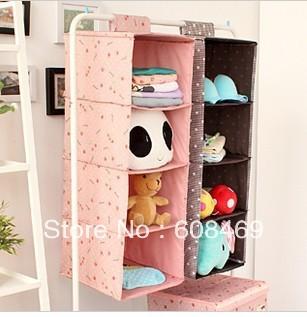 Lazy corner coimbra creative household South Korea four layers cloth art receive hang bag bag closet sorting box 33605 drawer