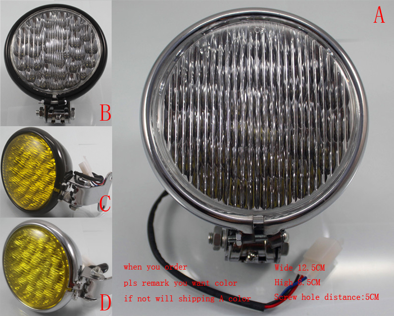 Motorcycle accessories headlamps LED headlight head light metal for Harley 1pcs