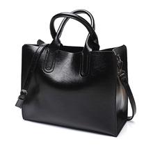 2017 новые модные сумки большой мешок ретро диких сумка просто масло воск кожи рук Уход сумка BH1412(China)