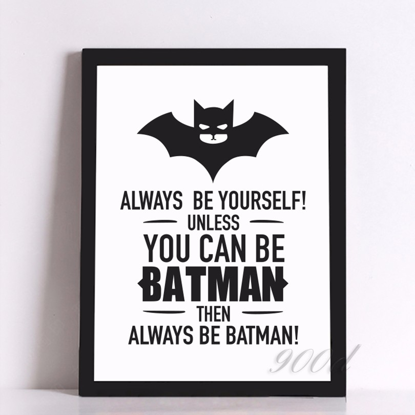 Art Print Poster Batman Quote Canvas Art Print Poster, Wall Pictures ...