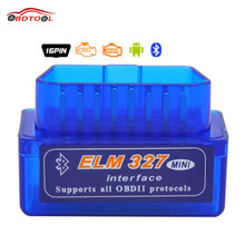 ELM327 Mini ELM 327 V2.1 OBD2 Bluetooth Interface Auto Scanner obd ii Diagnostic Tool works on Android Windows Symbian(China (Mainland))