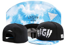 Brand C&S SKY HIGH CAP White clouds blue sky black snapback hat sports hip hop baseball cap adult sun active cap for men women