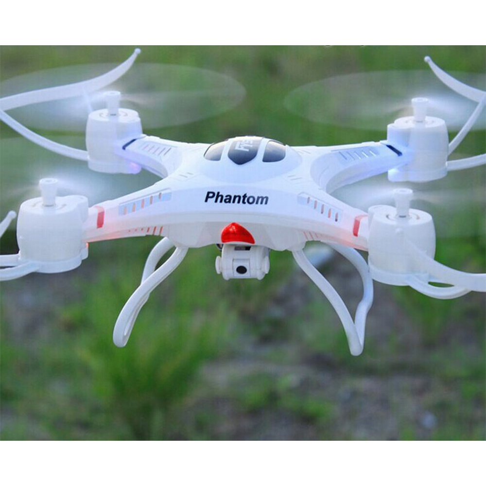 FY550 2.4GHz 4-CH IR Outdoor R/C Quadcopter With Gyroscope / Lamp - White(China (Mainland))